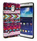 For Samsung Galaxy Note 3 III N9000 Pink Tribe with Black Slim Hybrid Case Cover