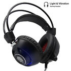 3.5mm Wired Stereo Gaming Headphone Microphone Volume Control Noise Isolating