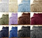 New Waterfall Ruffle DUVET COVER with Pillow Sham Egyptian Cotton AllSize nColor