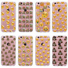 Funny Emoji Clear Soft Silicone TPU Case Cover For Apple iPhone 5 6 6S Plus SE