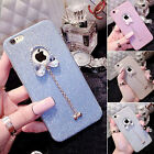 Bling Glitter Crystal Shock Proof Silicone Case Cover For iPhone 5/5S/5SE/6/6S