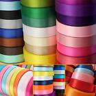 DOUBLE SIDED FACED SATIN RIBBON - 23 Metre Reels, 10mm widths.