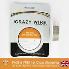 0.7mm (22 AWG) - 317L Grade Stainless Steel Wire - TMC Wire -  10 Metre Spool