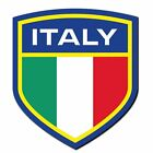 2 x Italy Flag Crest Italian Vinyl Sticker Laptop Window Car Luggage #4012