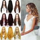 Women Long 3 4 Half Hair Wig Curly Straight Cosplay Daily Excellent No Bangs Wig
