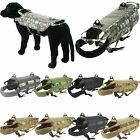 Military Tactical Molle K9 Cannine Training Dog Nylon Vest Packs Harness XS-XL