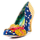 Irregular Choice Make My Day Womens Shoes Navy Multicolour New Shoes