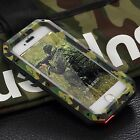 Military Metal Shockproof Heavy Duty Tempered Glass Cover Case for iPhone 6 6S +