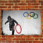 BANKSY GRAFFITI OLYMPICS THIEF POSTER QUALITY WALL ART PRINT PICTURE A4 A3 A2