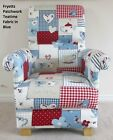 Fryetts Patchwork Fabric Adult Chair Red Gingham Shabby Chic Polka Dot Nursery