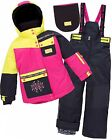 Deux par Deux Girls' 2-Piece Snowsuit Neon Pop Multi, Sizes 6-14