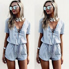 Women Ladies Clubwear V-Neck Playsuit Bodycon Party Jumpsuit Romper Trousers
