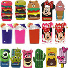 3D Cute Cartoon Soft Silicone Phone Case Back Cover Skin For Mobile Phones