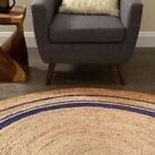 Anji Mountain Kerala Midnite Jute ROUND Rug NEW choose from 4' 6' 8'
