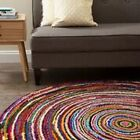 Anji Mountain Ripple Multi ROUND Rug NEW choose from  6' 8'