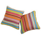 100% Cotton Striped Square Pillow Case Home Decor Throw Sofa Cushion Cover