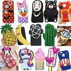 For iPhone6 6S Plus 5C 5S SE Case 3D Cartoon Soft Silicone Phone Back Cover Skin