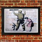 BANKSY SOLDIER GIRL POSTER FRAMED WALL ART PRINT PICTURE SMALL MEDIUM LARGE