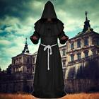 Monk Hooded Robes Outfits Friar Medieval Renaissance Priest Halloween Costume