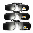New Polarized Lenses Flip-Up Clip On Sunglasses UV400 Driving Outdoor Glasses
