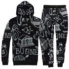 Men 3D business team Bank Print Hoodies Sweatshirt pants Tracksuit sweat suit