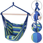 Hanging Rope Chair Swing Hammock Porch Swing Seat Two Cushions Striped