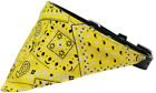 Yellow Western Bandana Pet Dog Collar - Black or White Collar
