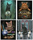 Cat Canvas Prints by Lisa Parker - 12 Mystical Magical Witch Cat Designs