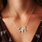Fashion Women's World Map Choker Statement Abstract Charm Pendant Necklace AB