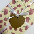 10 Card Gift Tags Heart Shaped With Black And White Ribbon