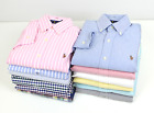 New Polo Ralph Lauren Men Oxford Shirt Classic Fit & Slim Long Sleve Dres Plaid