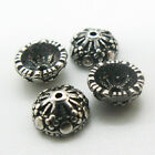 Vintage Solid Silver Charm  Flower Shape Bead Caps 6MM S925GY060