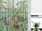 "CHOIS 006 Adhesive Cling Film Privacy Frosted Bamboo Glass Window Films 35"" Wide"