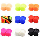 PAIR-SOLID LARGE LIP Silicone Ear Gauges-Ear Skins-Soft Ear Plugs-Ear Tunnels image
