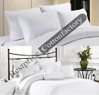 HEVY QUALITY WHITE SOLID ! 1500TC All Size Duvet Fitted Flat & Sheet Set Cotton