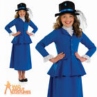 Child Victorian Nanny Mary Costume Girls Film Fancy Dress Book Week Outfit New