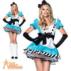 Sexy Charming Alice Tea Party Costume Fairytale Book Day Ladies Fancy Dress New