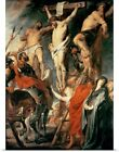 Poster Print Wall Art entitled Christ Between the Two Thi...