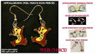 Chipmunk Earrings Chipmunks *OPTIONS* Charm Hypoallergenic Pierced OR Clip On