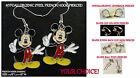 Charm Mickey Earrings *OPTIONS* Hypoallergenic Pierced OR Clip On
