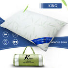 Bamboo Memory Foam Bed Pillow Queen & King Size Hypoallergenic w/Carry Bag