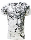 Konflic NWT Men's All Over MMA Graphic Muscle Tee 723-WH
