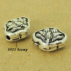 925 Stamp Sterling Silver Lotus Bead Vintage Jewelry Making 13x11x6mm WSP455