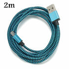 1/2/3M Braided Aluminum Micro USB Data&Sync Charger Cable For Android Phones