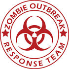Zombie Outbreak Response Team Vinyl Decal     Kill Zombies Sticker FREE SHIPPING