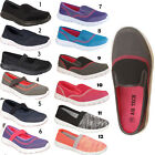 Womens Ladies Girls Slip On Comfort Fitness Pumps Gym Sneakers Shoes Sizes Uk