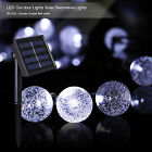 30 LED Solar Power Crystal Ball Outdoor/Indoor Decorative String Lights white