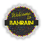 2 x Welcome To Bahrain Vinyl Stickers Travel Luggage #7787
