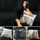 Soft Real Superior 1uality Rabbit Fur Protector Pillowcase Cushion Cover Home