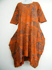 NEW 95% VISCOSE LAGENLOOK DRESS S/SLEEVE SIDE POCKETS 6 COLS ONE SIZE FITS 16-22